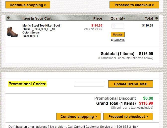 Carhartt coupon code