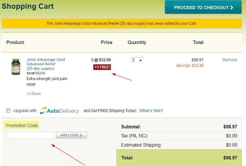 Coupon instructions how where to enter promo codes for specific add into cart where you can insert the dr david williams and healthydirections coupon code to get an extra discount fandeluxe Gallery