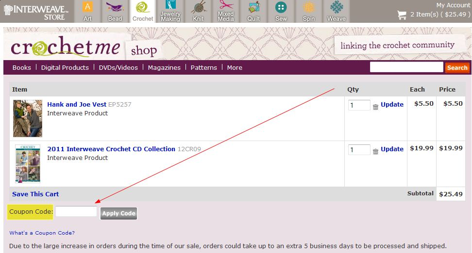 Interweave coupon code