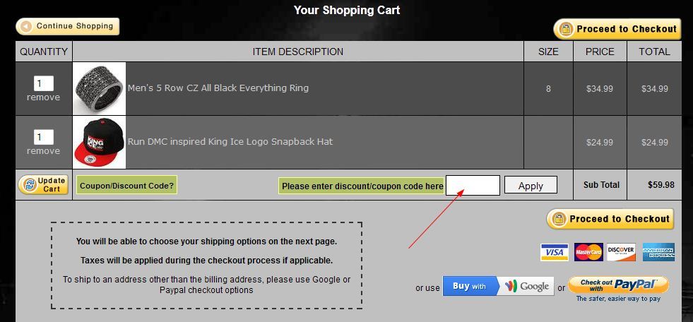 Coupon instructions how where to enter promo codes for specific go through the coupon link and verify offer and the code at the top be sure to go to their clearance page prior to checkout as they have some massive fandeluxe Choice Image