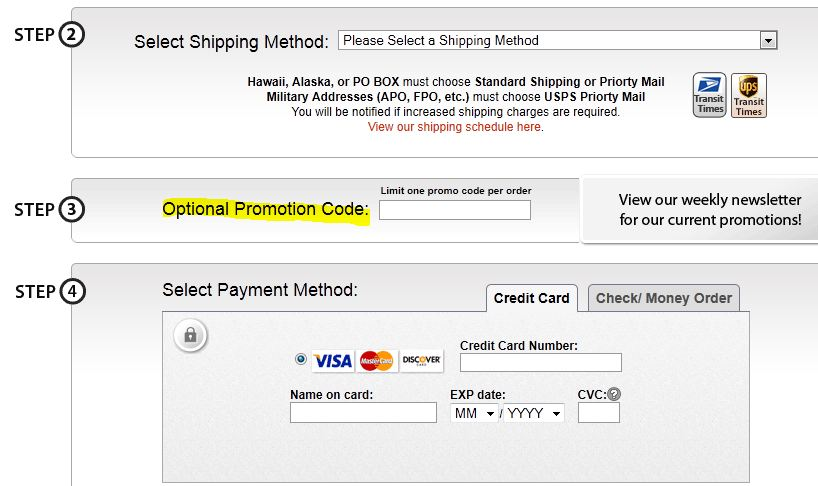 Coupon instructions how where to enter promo codes for specific in cart click proceed to checkout and then either sign in create new account or checkout as guest on step 3 below the shipping method selection you can fandeluxe Choice Image